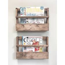 fairway home decor rustic wood magazine holder magazine storage rack wall hanging