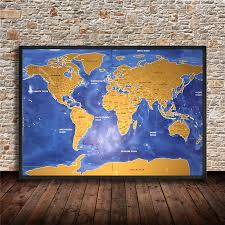 Paper Maps Gold Map Painting Promotion Shop For Promotional Gold Map Painting