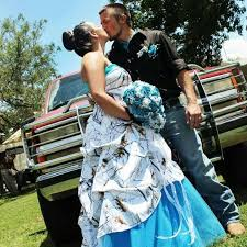 discount white and blue camo pickup dresses strapless satin snow