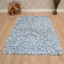 Leather Shag Rug Leather Shaggy Rugs In Dove Grey Free Uk Delivery The Rug Seller