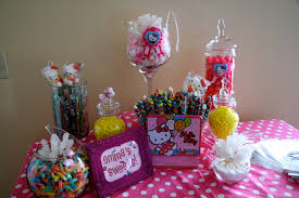 Birthday Candy Buffet Ideas by M U0026m Centerpiece Ideas Hello Kitty Candy Buffet For Tinsley
