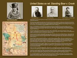 standing bear display district of nebraska united states