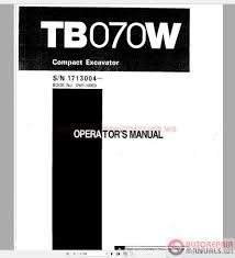 auto repair manuals takeuchi full set manual dvd
