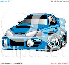 blue subaru clipart illustration of a turbocharged blue subaru impreza wrx car