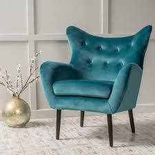 Blue Velvet Wingback Chair Velvet Allesandro Arm Chair