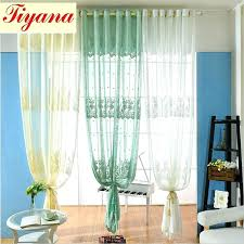 Floral Jacquard Curtains Green Patterned Curtains U2013 Teawing Co