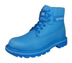 womens boots leather uk cat caterpillar colorado brights blue s boots leather winter