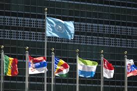 Flying The American Flag With Other Flags The United Nations Turns 70 Years Old This Year Time