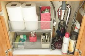 Bathroom Sink Organizer by The 15 Smartest Storage Hacks For Under Your Sink Storage Hacks