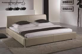 Schlafzimmer Betten G Stig Leder Bett Polsterbett In Farbe Beige Oder Braun Lederbett