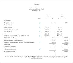 Opening Balance Sheet Template Limited Company Balance Sheet Explained Crunch