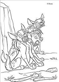 shenzi banzai ed hyenas coloring pages hellokids