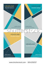 set abstract trendy geometric background template stock vector