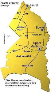 prince georges county map map of maryland