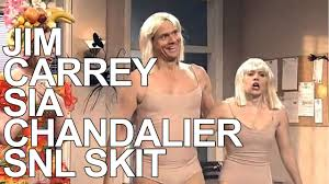 Chandelier Dance Jim Carrey Snl 2014 Sia Chandelier Dance Off With Iggy Azalea And