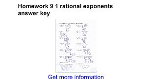 homework 9 1 rational exponents answer key google docs
