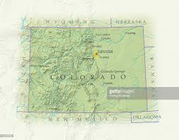 Map Of Denver Colorado by Map Of Colorado Closeup Stock Illustration Getty Images