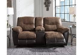follett reclining loveseat with console ashley furniture homestore