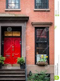 Exterior Doors Nyc Door Apartment Building New York City Stock Photo Image Of