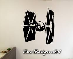 tie fighter star wars wall decals home decor movie mural arts