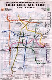 Mexico City Map by Mexico City Mexico Metro System Map Mexico City Mexico U2022 Mappery