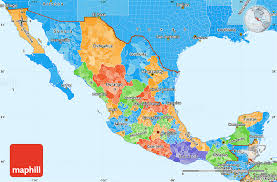 regions of mexico map political simple map of mexico political shades outside