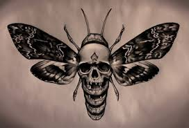 skull moth tattoo pictures to pin on pinterest tattooskid