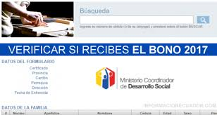 consulta sisoy beneficiaria bono mujer trabajadora 2016 como saber si recibo bono de desarrollo humano por cédula 2018