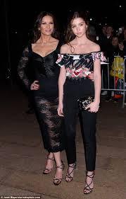 catherine zeta jones catherine zeta jones and daughter make elegant pair at d g event