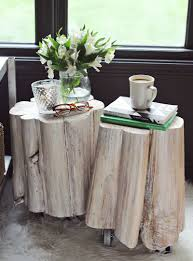 How To Build A Wood End Table by Diy Tree Stump Side Tables U2013 A Beautiful Mess