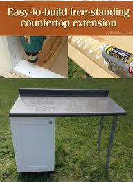 free standing kitchen counter building a kitchen countertop extension jill cataldo