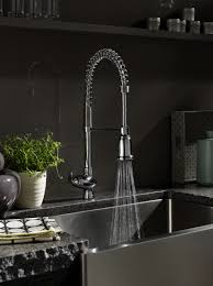 Kitchen Pull Down Faucet Reviews Kohler Carmichael Single Handle Pull Down Sprayer Kitchen Faucet
