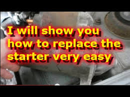 how to replace the starter on a 2002 hyundai accent youtube