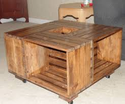 Diy Wood Crate Coffee Table by Diy Crate Coffee Table