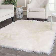 Plush Area Rugs Tremendeous Blathering Collection Of White Rug Fluffy Area