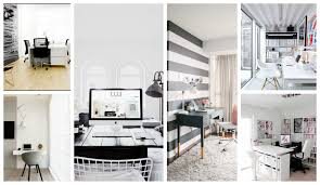 stylish black and white home offices that will amaze you