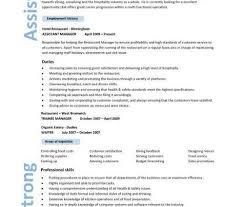 Resume Samples For Hospitality Industry by Sample Resumes For Managers Sales Resume Format Sales Resume