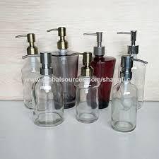 China Round Clear Bathroom Liquid Soap Dispenser With Pump Bottle - Bathroom liquid soap dispenser