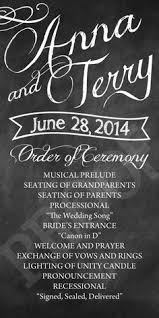 Wedding Program Chalkboard Chalkboard Wedding Ceremony Program Chalkboard Weddingprogram