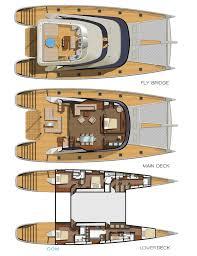Catamaran Floor Plans by Blue Coast 88 U0027 Layout Latitude Yachts Sail Superyachts Com