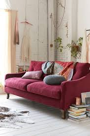 design dilemma decorating around the burgundy sofa u2013