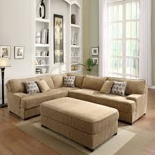 Chenille Sectional Sofa Tara Beige Chenille Sectional Set 14796629 Overstock Beige