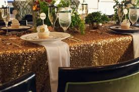 Table Cloth Rental by Inspiration U2013 Gold Sequins U2013 Ultrapom Wedding And Event Decor Rental