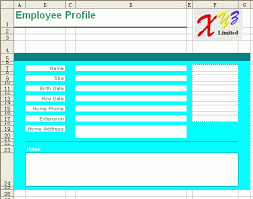 Microsoft Excel Report Templates Free Excel Report Template Employee Profile