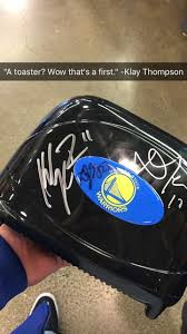 Sports Toasters Klay Thompson Was So Confused When Someone Asked Him To Sign A