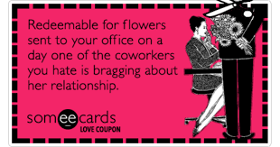 coupon valentines day coworkers flowrs ecard