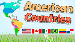 United States Map With State Names And Capitals by The American Countries In English Flags Map And Capitals Youtube