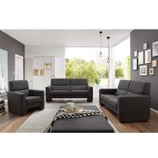 sofa garnitur 3 teilig sofagarnitur in anthrazit webstoff 3 teilig dlrg vreden