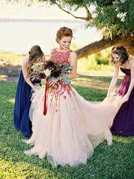 wedding dress not white 30 dreamy wedding dresses not in white that your ll fall in