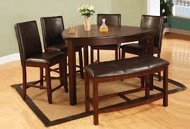 Dining Room Sets With Benches Bar Height Dining Room Table